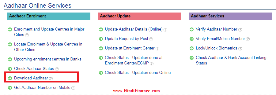 How to download Aadhaar Card कैसे करें आधार कार्ड को ऑनलाइन डाउनलोड 1