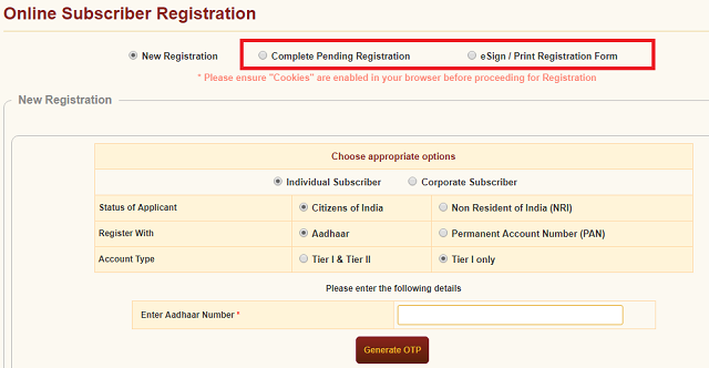 NPS account online kaise khole how to open NPS online aadhaar card 5