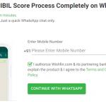 कैसे Whatsapp पर सिबिल  स्कोर फ्री में चेक करें? (Free CIBIL Score using Whatsapp)