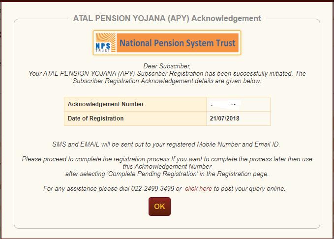 अटल पेंशन योजना ऑनलाइन open APY online 3