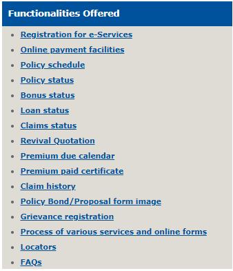 LIC e-services lic वेबसाइट कस्टमर पोर्टल